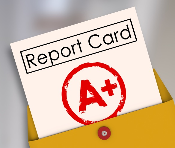 Report Card A+ Plus Top Grade Rating Review Evaluation Score